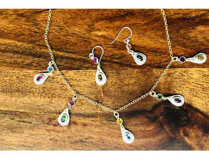 Tourmaline Necklace with Matching Earrings