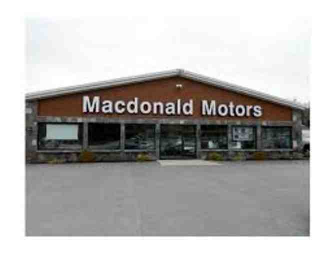 $50 Gift Certificate from Macdonald Motors, Bridgton, Maine
