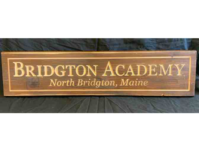 Handmade Bridgton Academy Sign