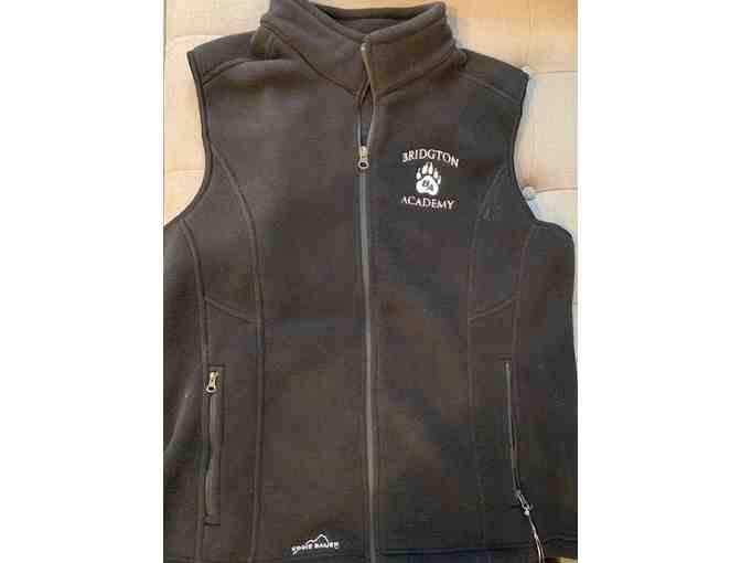 Ladies' XL Eddie Bauer Fleece Vest with Bridgton Pawprint Logo