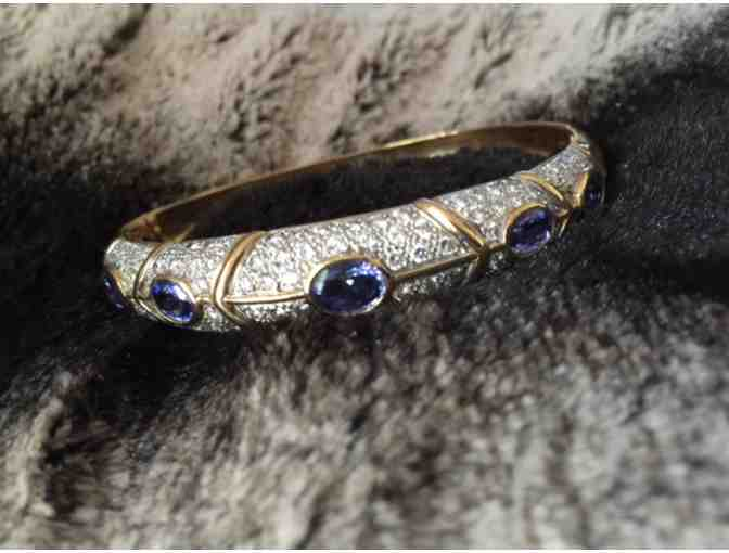Diamond & Tanzanite Bracelet in 18K Yellow Gold - Photo 2