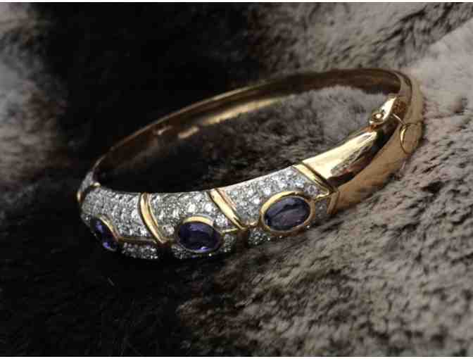 Diamond & Tanzanite Bracelet in 18K Yellow Gold
