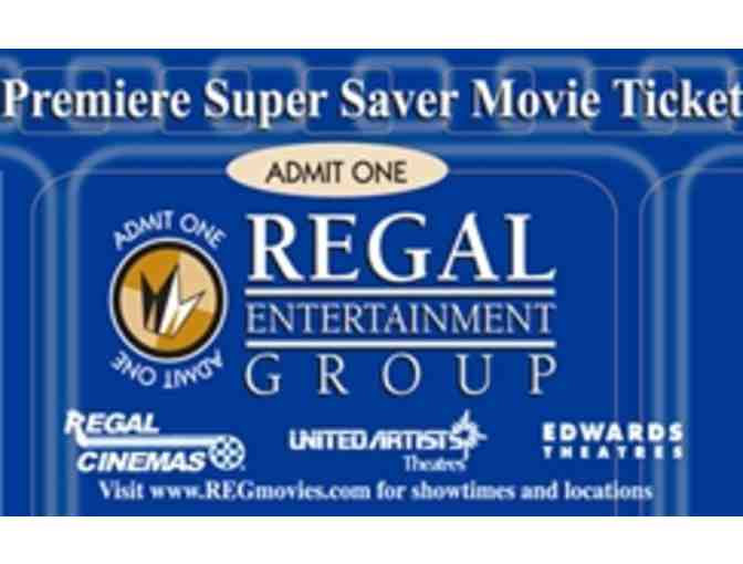 (4) Premiere Tickets for Regal Cinemas & $25 Gift Card