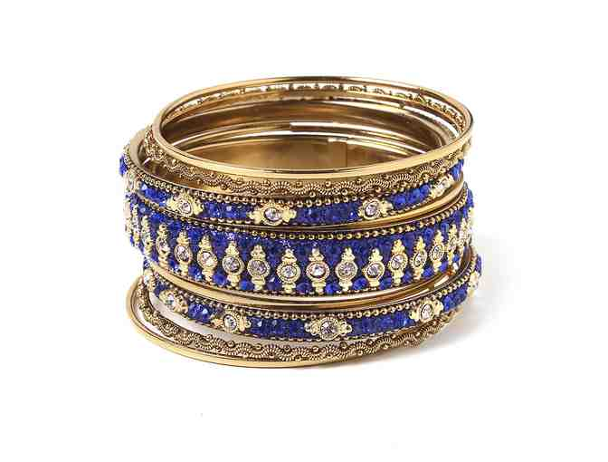 9 Piece Bangle Set in Royal Blue