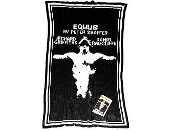 EQUUS one of a kind logo blanket and Playbill