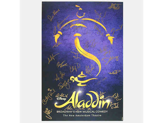 ALADDIN poster, signed by the original Broadway cast
