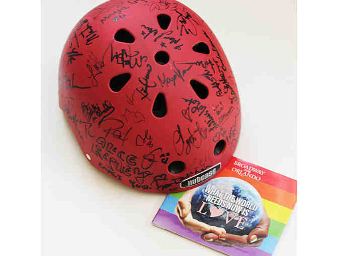 Broadway for Orlando bicycle helmet and CD