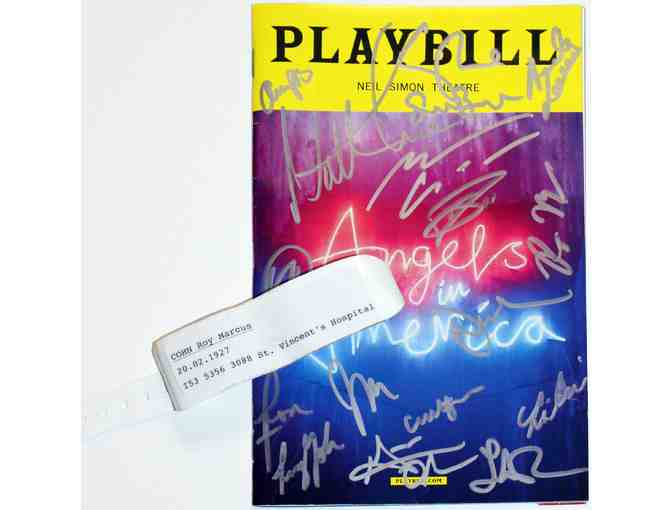 Angels in America prop and Andrew Garfield & Nathan Lane-signed Playbill