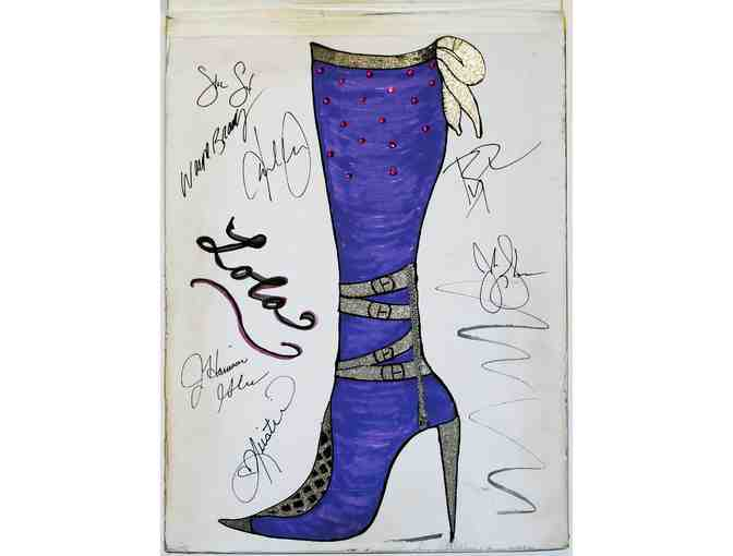 Signed sketchpad prop from Kinky Boots, 4th of 4 different designs