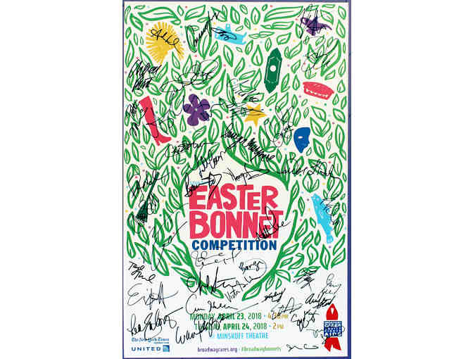 2018 Easter Bonnet Competition signed poster and DVD