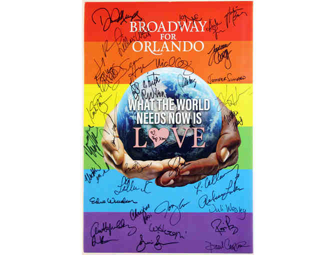 Autographed poster from the 2016 'Broadway for Orlando' recording session