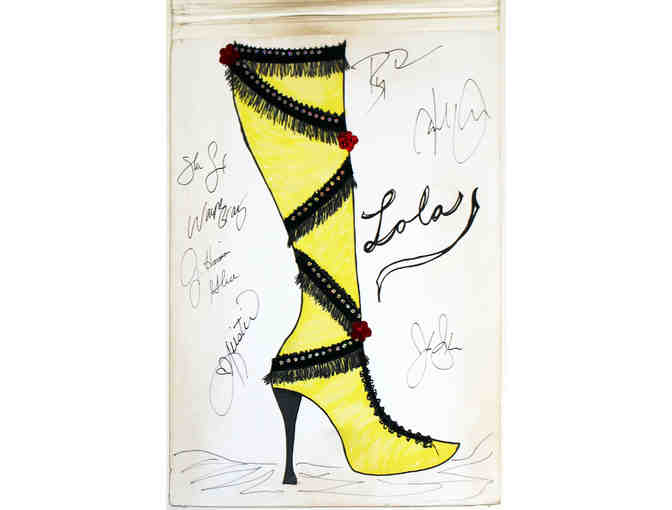 Autographed sketchpad prop from Kinky Boots, 2nd of 4 different designs