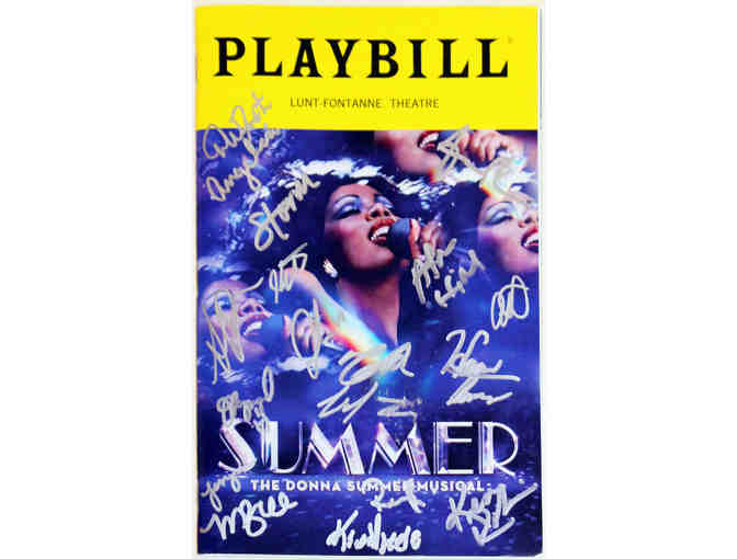 Autographed Summer: The Donna Summer Musical opening night Playbill