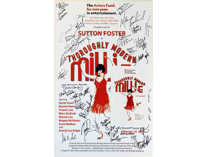Autographed Thoroughly Modern Millie 15th anniversary reunion concert poster