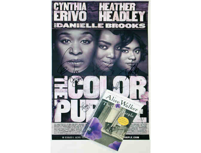 Signed The Color Purple poster and book