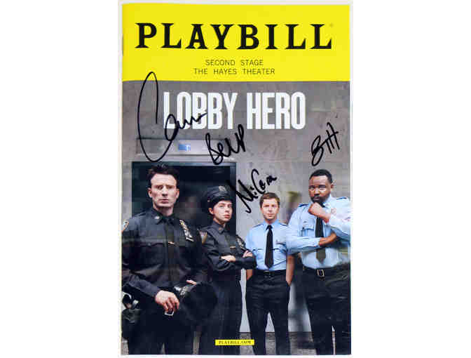 Autographed Playbill from Lobby Hero