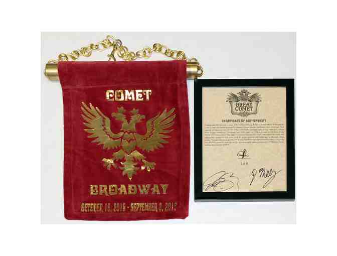 Drape from The Great Comet of 1812 and certificate of authenticity signed by Josh Groban