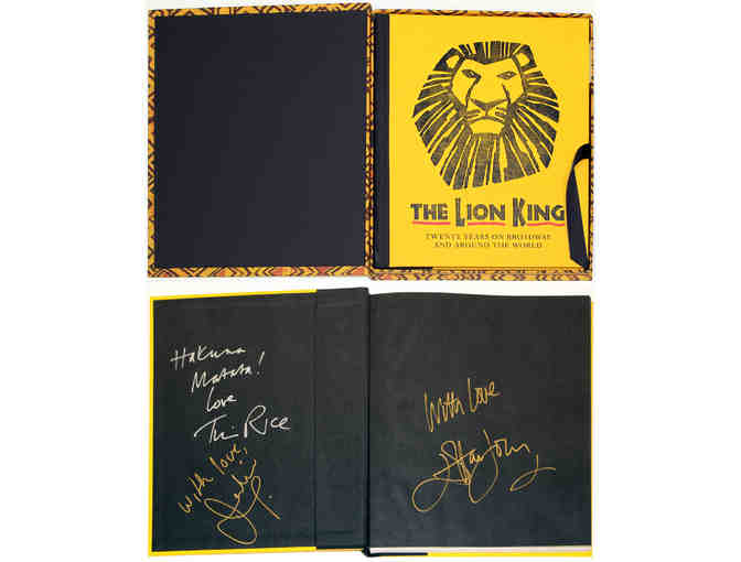 Sir Elton John-signed The Lion King 20th Anniversary commemorative book