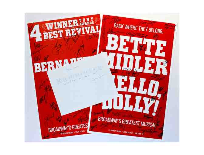 Musical Phrase 'Hello, Dolly!' signed by Jerry Herman, plus posters signed by Bette Midler