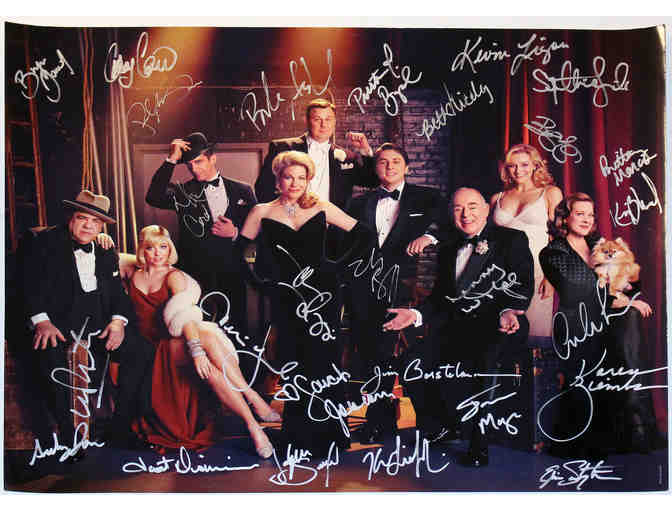 Zach Braff and Marin Mazzie-signed Bullets Over Broadway cast photo