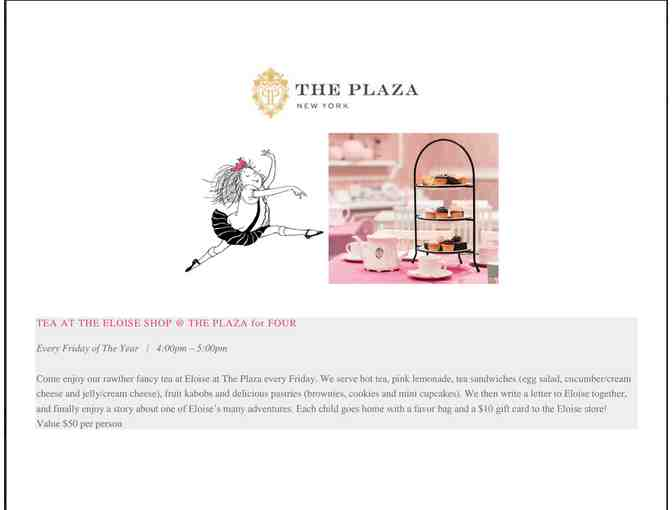 Eloise Tea @ The Plaza for 2 - Photo 2
