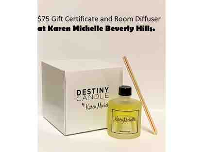 $75 Gift Certificate to Karen Michelle Along With a Reed Room Diffuser