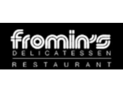 Fromin's Restaurant and Deli, $50 Gift Card