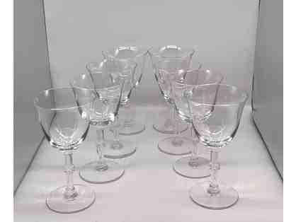 Vintage Lalique Beaugency Tall Water Goblets 6 3/4