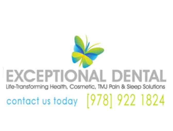 Zoom whitening treatment. One hour session at Exceptional Dental - Value $400