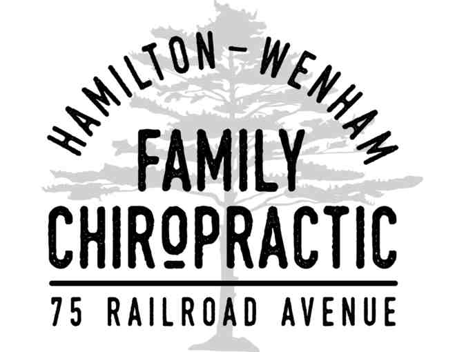 Initial consultation & first adjustment at Hamilton Wenham Family Chiropractic -value $150