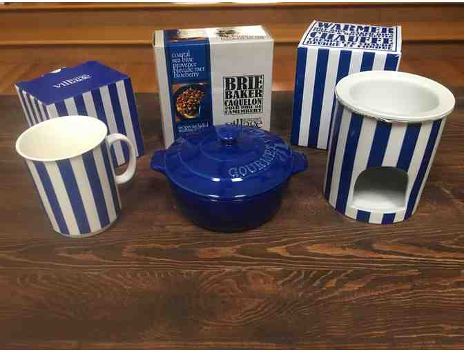 Gourmet Village Appetizer Set- Blue theme - Value $60
