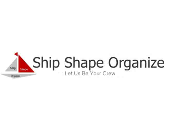 2 hours of organizing services with ShipShape Organize- value $150