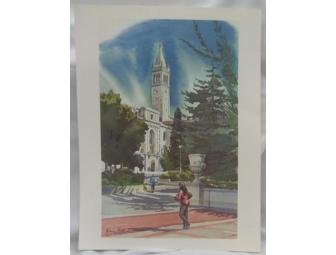 UC Berkeley Campanile Watercolor Print