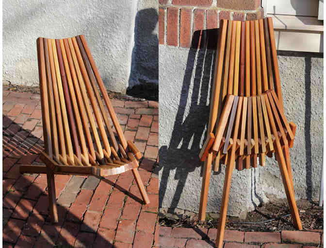 Folding chair made of tropical wood
