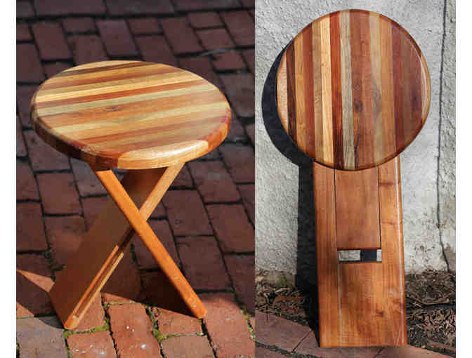 Folding Stool made of tropical wood