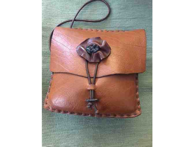 Fine craft leather bag - poppy closure