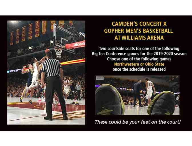 Gopher Men's Basketball 2 Courtside Seats for N'Western or Ohio State Game - Photo 1