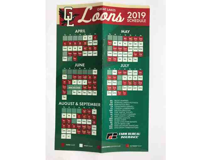 Four (4) Lawn Vouchers for Great Lakes Loons 2019  Season