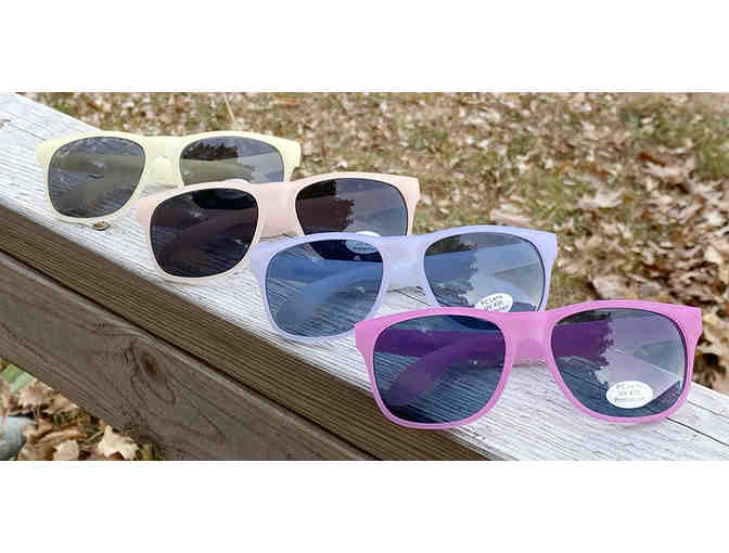 Camp Cavell Color Changing Frame Sunglasses - UV Protective Lens - BLUE - Photo 1