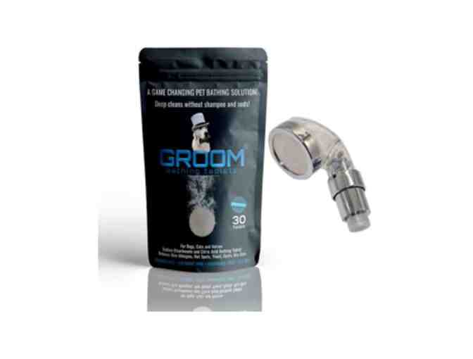 GROOM Bathing Tablets and Shower Head