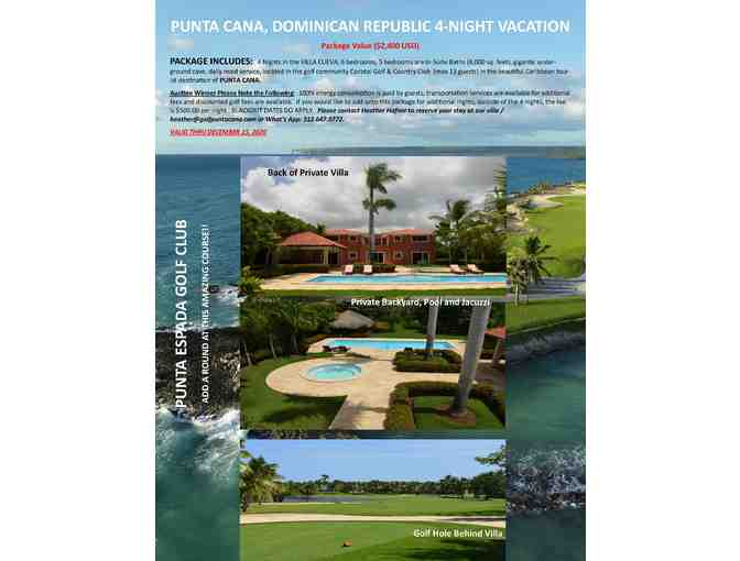 PUNTA CANA, DOMINICAN REPUBLIC 4-NIGHT VACATION