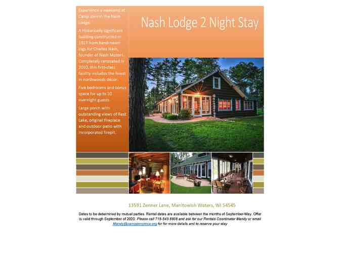 Camp Jorn - 2 Night Get Away: Nash Lodge - Photo 1