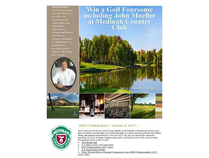 Win a foursome of golf including John Mueller at Medinah Country Club
