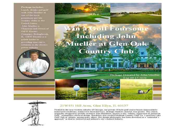 Win a foursome of golf including John Mueller at Glen Oak Country Club
