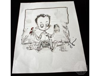 Autographed LOST Custom 'Ben Linus' Sketch (signed by Jorge Garcia)