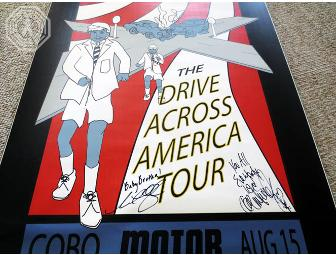 Authentic Autographed LOST Drive Shaft Poster (signed by Dominic Monaghan & Neil Hopkins)