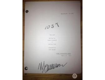 Autographed photocopy of LOST Script: 'The End' (signed by Michael Emerson)