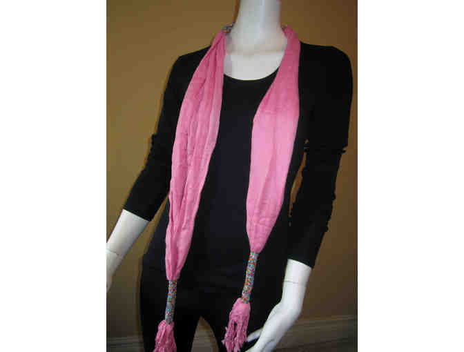 BEATRICE BEADED SCARF: CHERRY BLOSSOM PINK. GV-02 - Photo 4
