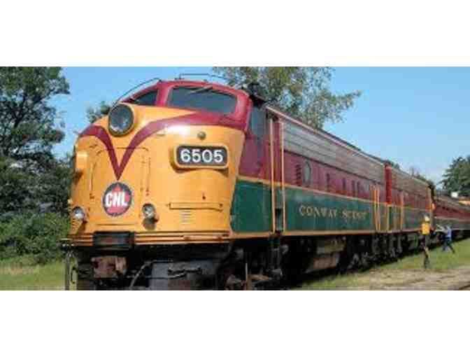 Conway Scenic Railroad -Valley Train Rid3 Tickets for Two Adults and Two Children