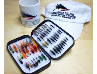 Atlantic Salmon Flies in a Wheatley Box ... Hat and Mug, too!